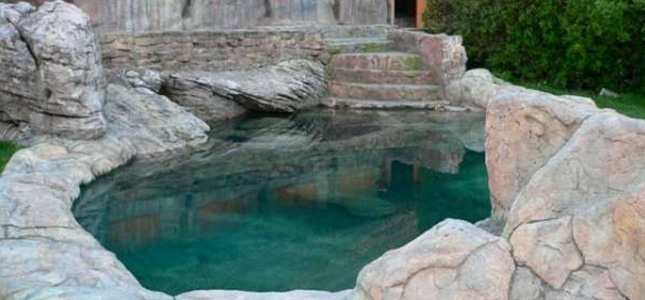 Rock swimming pool